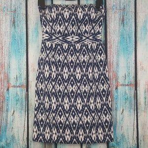 Banana Republic Strapless Ikat Print Dress